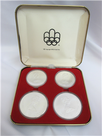 Montreal Olympics XXI Olympiad 4-Coin Uncirculated Set Silver Series II (Royal Canadian Mint, 1976)