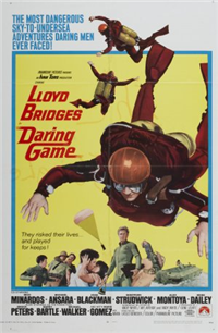DARING GAME (Paramount, 1968) Original American One Sheet