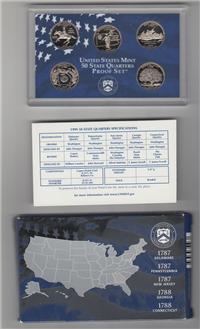 USA 5 Coins 50 State Quarters Proof Set  (U.S. Mint, 1999)