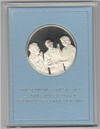 The Supreme Court Justice Sandra Day O'Connor Eyewitness Medal   (Franklin Mint, 1981)