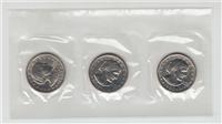 Susan B. Anthony Dollar 3 Coin Souvenir Set  (US Mint, 1980)