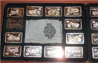 The Harley Davidson 90th Anniversary Silver Ingot Collection    (Franklin Mint, 1993)