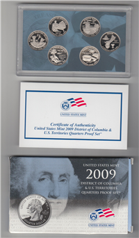 USA  6 Coins 50 State Quarters Proof Set   (U.S. Mint, 2009)