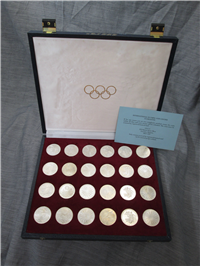 1972 Munich Olympics XX Olympiad 24 Coin Silver Uncirculated Set