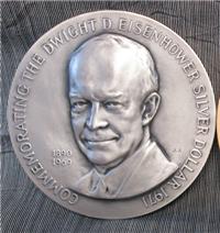 The Dwight D. Eisenhower Silver Dollar Commemorative Medal   (Medallic Art, 1971)