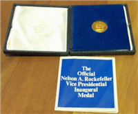 The Official Nelson A. Rockefeller Vice Presidential Inaugural Medal in 18KT Gold  (Medallic Art, 1974)
