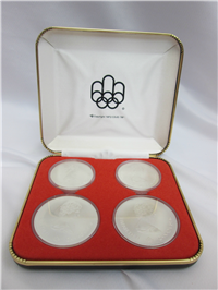 Montreal Olympics XXI Olympiad 4-Coin Uncirculated Set Silver Series VI (Royal Canadian Mint, 1976)