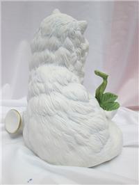 White Persian Cat Porcelain Statue Figurine - Michelle (Franklin Mint, 1992)
